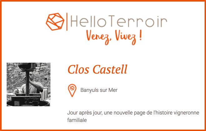 Clos Castell, pépite du terroir - Hello Terroir